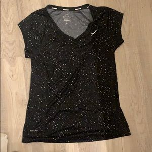 Nike running black top small